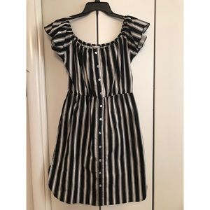 Charlotte Russe Ruffle Striped Dress